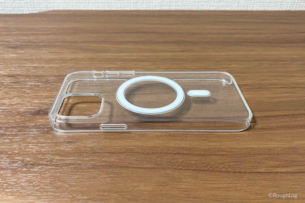 MagSafe対応iPhoneクリアケースは側面のボタンもカバーするデザイン