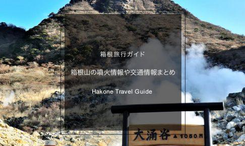 箱根旅行に行って大丈夫?箱根山の噴火情報・大涌谷などの規制情報まとめ【保存版】