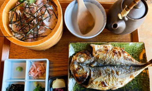 熱海駅周辺で海鮮ランチ!囲炉茶屋で美味しい魚料理を食べてきた。